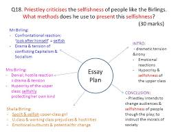 an inspector calls j b priestley written set ppt  priestley criticises the selfishness of people like the birlings