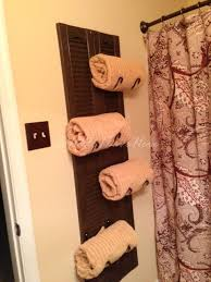 picture of diy shutter towel rack