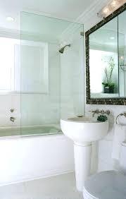 bathtub shower splash guard glass tub doors for double sink faucets lamps mirrors toilet ceramic tiles