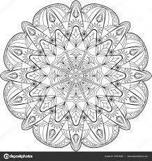 Cirkel Mandala Volwassen Kleurplaat Stockvector Fodorviola73