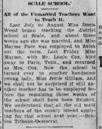 Mamie Pace marries Louie Cox - Newspapers.com