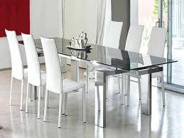 smoked glass round dining table full size of dining room white dining table and chairs erfly
