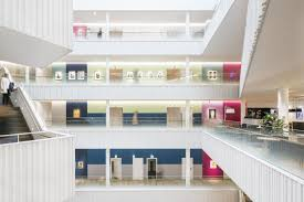 beautiful office buildings. The Swedish Banking Company SEB Recently Moved Into Their Newly Built  Premises In Solna, Sweden - A Bright And Modern Office Space With Sustainable Beautiful Buildings