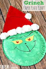 Grinch Paper Plate Craft. Easy Christmas ...
