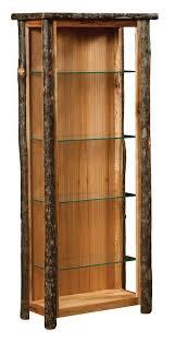 rustic curio cabinet. Wonderful Rustic Rustic Curio Cabinets  Amish Rustic Hickory Curio Cabinet To R