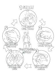 hand washing coloring page pages sheets hands colourin