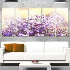 souq design art designart mt12710 401 purple little wild flowers extra large fl glossy metal wall art purple 60x28 uae