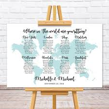 This World Map Wedding Seating Chart Sign Is Designed For