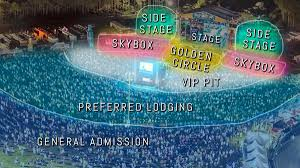 We Fest Seating Chart 2016 Map Of The Seating Chart Using An Aerial View Of The Fans In
