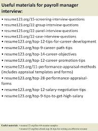 Payroll Manager Resume Sample Payroll Manager Resume Sample Information Technology Resume Resume