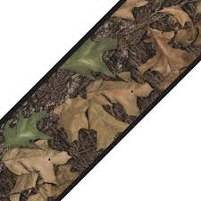 mossy oak camo leaves self stick accent wall border on camo wall art self stick with mossy oak camo leaves self stick accent wall border contemporary