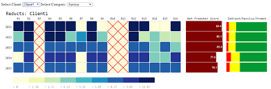 Nps Chart Attribute Heatmap With Nps Row Chart And Nps Category