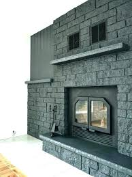 covering brick fireplace with stone veneer how to easily paint a charcoal grey makeover cover e up
