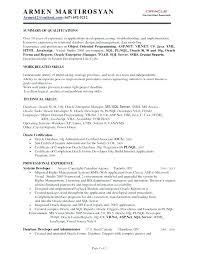 Sql Developer Resumes Mmventuresco Awesome Resume For Oracle Developer