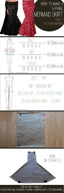 Mermaid Skirt Pattern Magnificent How To Make A Mermaid Skirt Part 48 Pattern Making SPARKLY BELLY