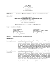 Valid Objective For Pharmacy Tech Resume Madiesolution Com
