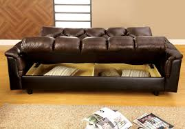 brown leather sofa bed. Furniture Of America Montclaire Leather-Vinyl Storage Futon/Sofabed, Dark Brown Leather Sofa Bed G