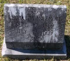 Rhoda Ida Robertson McLemore (1869-1939) - Find A Grave Memorial