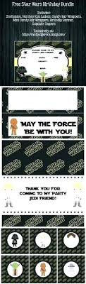 Star Wars Party Invitation Template Cryptoforpak