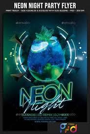 Neon Night Party Flyer 22760725 Freepsdvn