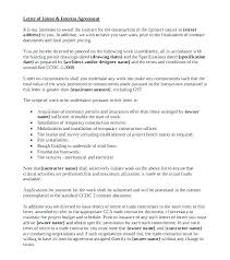 Free Building Work Contract Template Letter Of Intent