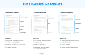 Different Resume Formats Chronological Functional Combination Simple