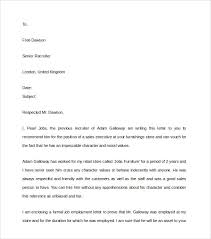 Sample Of A Character Letter 9 Character Reference Letter Templates Pdf Word