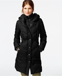 DKNY Faux-Leather-Trim Quilted Down Coat - Coats - Women - Macy's ... & DKNY Faux-Leather-Trim Quilted Down Coat - Coats - Women - Macy's Adamdwight.com