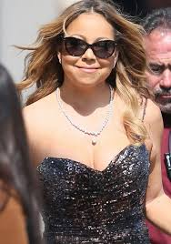 mariah carey arrives at the abc studios for jimmy kimmel live on june 1