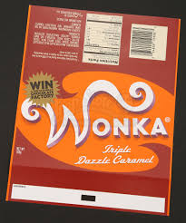 wonka chocolate bar wrapper. Wonderful Chocolate Wonka Bar Wrapper  Triple Dazzle Caramel  Prop Store Ultimate Movie  Collectables For Chocolate M