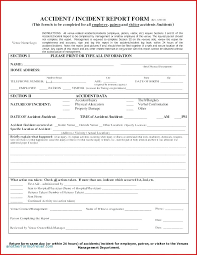 Incident Report Form World Employee Free It Template Medical