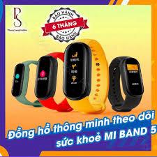 CHỈ HÔM NAY SALE [Có Tiếng Việt] Vòng tay thông minh Xiaomi Mi Band 5 /  Đồng hồ thông minh Miband 5 - [ Bảo hành 6 thán chính hãng 851,400đ