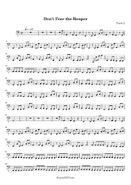 don t fear the reaper sheet music dont fear the reaper sheet music dont fear the reaper score