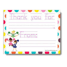 Blank Thank You Notes Cheerleader Thank You Notes 6 Card Set