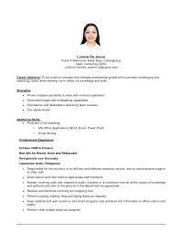 Best Objective In A Resume Finance Objective Resume Best Job