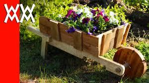 Decorative Garden Urns Make A Rustic Wheelbarrow Garden Planter Easy DIY Weekend Project 84