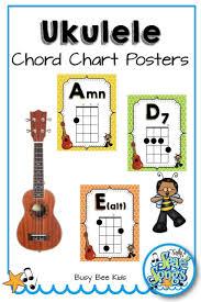 Ukulele Chord Chart Posters Busy Bee Kids Ukulele Chords