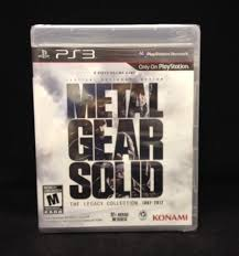 Metal Gear Solid The Legacy Collection Sony Playstation 3 2013