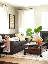 living room decorating ideas dark brown. Living Room Decorating Ideas With Dark Brown Sofa