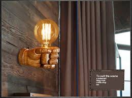 industrial looking indoor lighting. aliexpress.com : buy nordic loft style creative resin fist wall sconce industrial vintage light for home antique led lamp indoor lighting from looking i