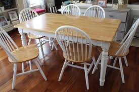 build dining room table. White And Wood Dining Room Table With Six Chairs Build N