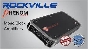 rockville phenom mono block amplifier series demo
