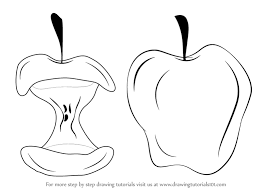 apple fruit drawing realistic. apple fruit drawing realistic
