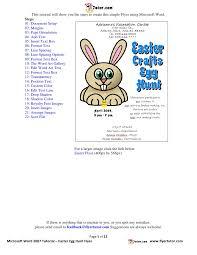 word easter egg microsoft word tutorial easter egg hunt flyer