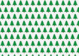 Christmas Trees Wrapping Paper Template Free Printable