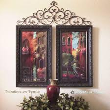 ooo what a great idea using the wrought iron to embelish wall decor on tuscan style wrought iron wall decor with ooo what a great idea using the wrought iron to embelish wall decor