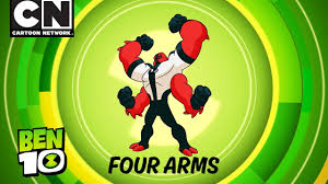 ben 10 aliens in action four arms cartoon network