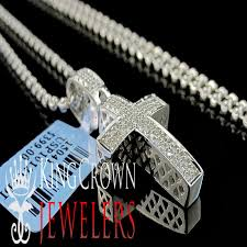details about new 25ct genuie real diamond sterling silver mini cross pendant necklace chain