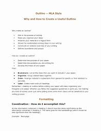 Mla Format Outline Example Lovely Research Paper Mla Citation