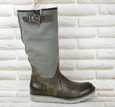 details about g star raw womens grey brown leather long knee high boots shoes size 5 uk 38 eu